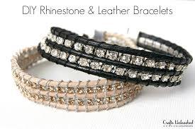 rhinestone leather wrap bracelet images Bracelet with rhinestone chain tutorial jpg