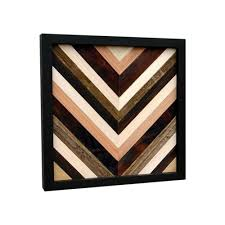 wood wall wood sculpture reclaimed wood 12x12 chevron