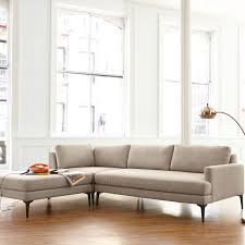 3 Piece Sectional Sofa With Chaise by Andes 3 Piece Chaise Sectional West Elm