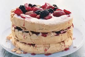 three layer berry and brown sugar pavlova recipe epicurious com