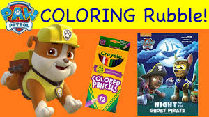 coloring pages rubble paw patrol coloring book night of the ghost