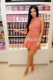 kylie jenner short pink celebrity cocktail party dress in orlando
