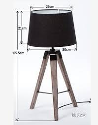 Wooden Table Lamp Hot Selling European U0026american High End Fashion Triangle Tripod