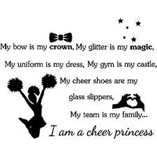 cheer wall decal words removable cheerleading wall
