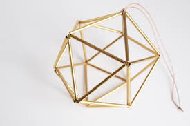 himmeli brass orb scandinavian geometric ornament gold