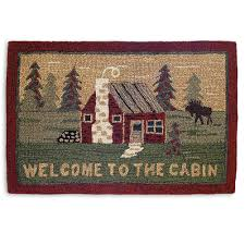 pine cone area rug pinecone hooked u0026 braided accent rug cabin place