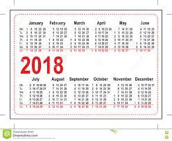 Kalender 2018 Helgdagar Fick Kalender 2018 För Raster Vektor Illustrationer Bild 74995966