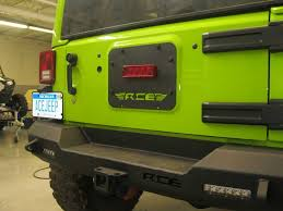 jeep wrangler brake light cover ace gate plate with factory third brake light provision