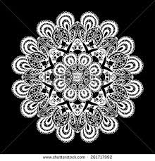 ornamental lace pattern circle background stock vector