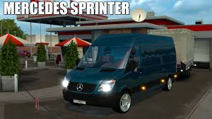 bmw sprinter van ets2 mercedes sprinter trailer euro truck simulator 2 youtube