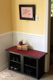 Build A Shoe Storage Bench by How To Make A Shoe Storage Bench Out Of A Habitat Restore Wall