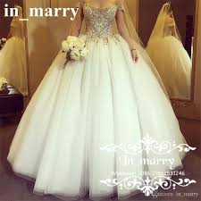 victorian crystals ball gown wedding dresses 2017 off shoulder