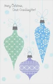 pastel ornaments great granddaughter card by freedom