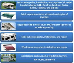 Rv Window Awnings Sale Mobile Rv Awnings Sales Parts Service Home