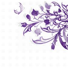 Wedding Flowers Drawing Violet Hand Drawn Flowers On White Background Vector Clipart Image