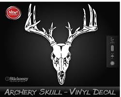 archery skull bow hunting sticker whitetail deer hunter decal hoyt