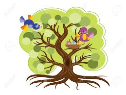 tree with birds vector royalty free cliparts vectors and stock