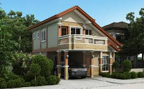 2 Storey House Two Storey House Plan With Balcony Home Design
