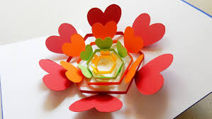 pop up card radiant hearts learn how to make a heart flower