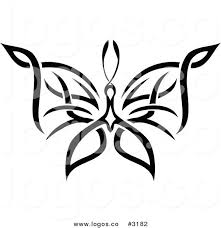 royalty free stock logo designs of butterfly tattoos