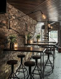 we love this rustic and distressed brick wall modern and