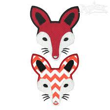 tribal fox embroidery design