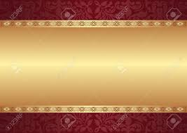 maroon and gold background with ornaments royalty free cliparts