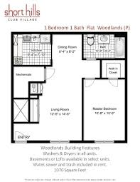 1 2 and 3 bedroom apartments in springfield nj floor plans