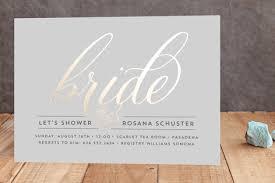 s shower invitations golden foil pressed bridal shower invitations by beth