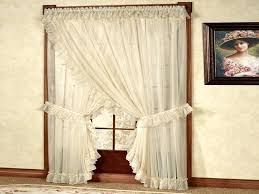 Priscilla Curtains With Attached Valance Criss Cross Curtains Teawing Co