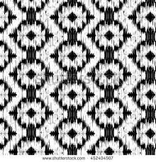 seamless ikat pattern abstract black white stock vector 452404507