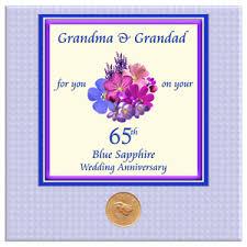 65th wedding anniversary gifts 65th blue sapphire wedding anniversary presents cards gifts