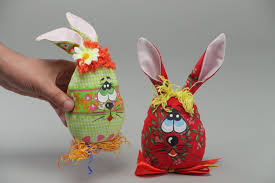 easter rabbits decorations madeheart handmade beautiful interior soft toys rabbits sewn of