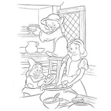 20 free printable snow white coloring pages