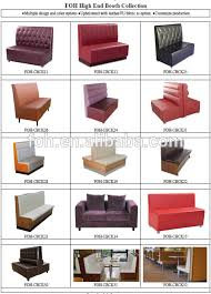 Custom Restaurant Booths Upholstered Booths 4 People 2 Sides Restaurant Booth Sofa Seating Sets Foh 17075k