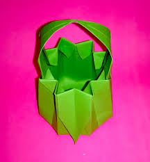 paper basket for sweets origami basket ideas for easter youtube