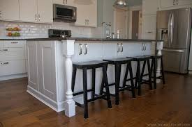kitchen islands with columns home improvement adding column supports to counter overhang plus