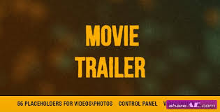 futuristic trailer videohive free after effects templates