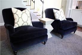Blue Chairs For Living Room Eye Catching Denim Navy Blue Accent Chair For Living In Chairs
