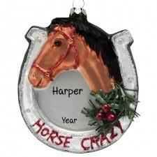 horseshoe christmas ornaments horseshoe glass ornament personalized