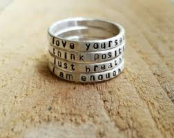 personalized stackable rings custom stacking ring etsy