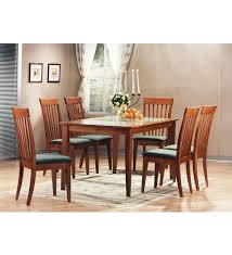 kingston dining room table buy zuari kingston six seater dining set with glass top online six