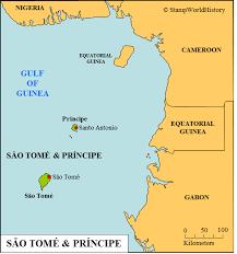 map of sao tome são tomé príncipe sts and postal history stworldhistory