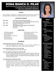 Formal Resume Format Sample by Date Format In Resume