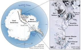 Antarctica World Map by Travelinggeologist