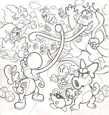 yoshi island coloring pages download print free intended