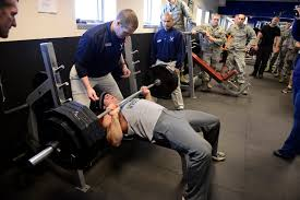 schriever bench press record falls u003e schriever air force base