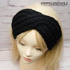 knitted headbands voluminous knitted headband women s black shop online on