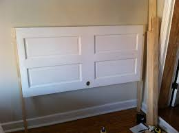 How To Make Your Own Headboard And Footboard Opportunity Knocks Transforming An Old Door Into A Headboard