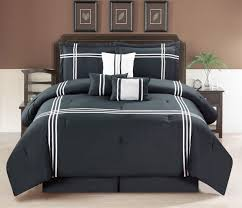 Machine Washable Comforters Contemporary Plaid Comforter Set Full Queen Bed Striped Bedding